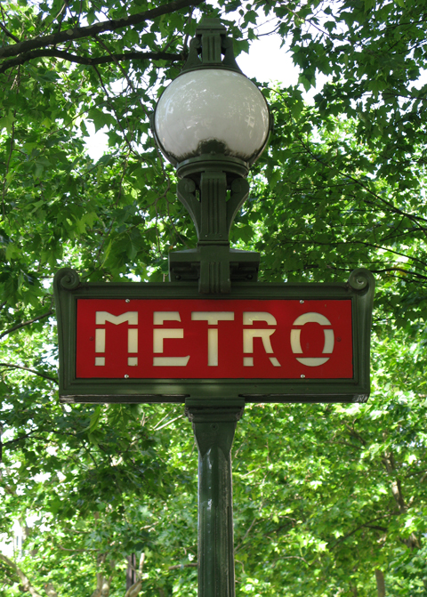 paris metro sign, kate bailward