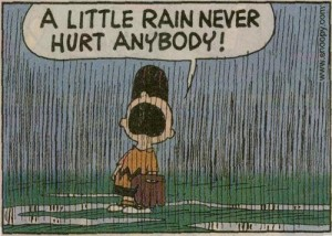 charlie brown, rain